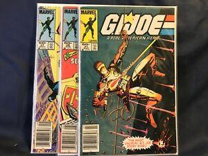 G.I. Joe # 21 26 27 ~ FIRST PRINTS NEWSSTAND ~ Silent Issue ~ 1st Storm Shadow!
