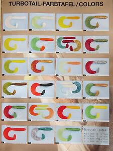 Profi Blinker Turbotail-Twister 50 Stück gemischt Größe A0-A-B-C-D