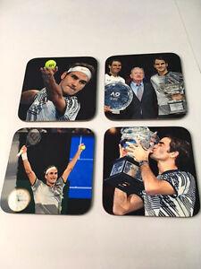 Roger Federer Australian Open 2017 Winner COASTER Set
