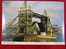Vintage Original Tower Bridge, London England Uncirculated Postcard
