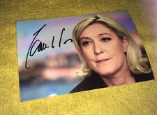 Marine Le Pen Dedicace Autograph