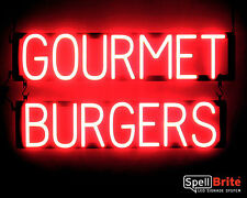 SpellBrite Ultra-Bright GOURMET BURGERS Sign Neon look LED performance