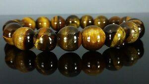 TIGERS EYE Bracelet Therapeutic Gemstone, 6mm 8mm 10mm 12mm 14mm