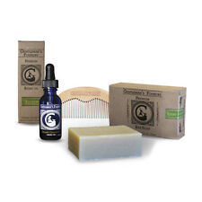 Peppermint Tea Tree Beard Oil Beard Grooming Kit for Home & Travel, Soap & Comb