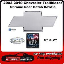 02-10 Chevy Trailblazer Chrome Bordered Aluminum Rear Hatch Bowtie AMI 96075C