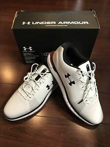 Under Armour Men's HOVR Fade Golf Shoe Spikeless 10 White 3022764 100 New In Box