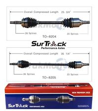 Fits Toyota Yaris FWD 06-12 Pair of Front CV Axle Shaft Assemblies SurTrack Set
