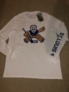 Adidas St Louis Blues Amplifier LS Shirt Men's SZ XL NWT