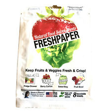 FRESHPAPER Food Saver Sheets for Produce Keep Fruits & Vegetables Fresh