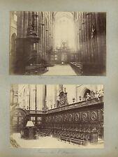 Sainte-Marie-Madeleine Saint-Maximin Aix VAR 4 Photos albumine vers 1890