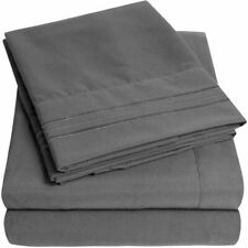 1500 Supreme Collection Extra Soft King Sheets Set, Gray - Luxury Bed Sheets Set