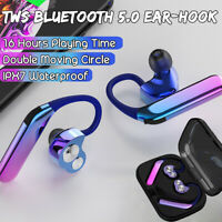 bluetooth 5.0 Earbuds Headset TWS Twins Wireless In-Ear Stereo Earphones Hooks