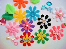 100 Keepsake Craft Felt Flower/scrapbooking/Spring Color/Decoration H282-Small