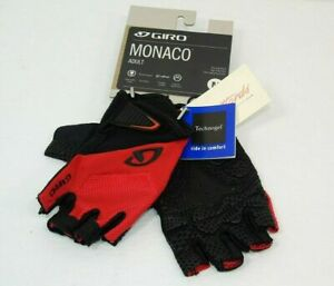 Genuine Giro Monaco Gloves, Red/Black, Medium, Brand New