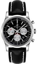 Breitling Transocean Chronograph Black Dial 43mm Men's Watch AB015212/BF26-435X