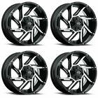 Set 4 17 Vision 422 Prowler Black Machined Wheels 17x9 6x5.5 12mm Chevy 6 Lug