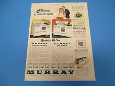 1950 Murray Home Appliances Wonderful new Electric and Gas Ranges Print Ad PA012