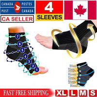 2 Pair Foot Sleeves Plantar Fasciitis Heel Compression Socks Achy Swelling Ankle