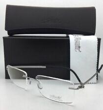 SILHOUETTE Eyeglasses HINGE C-2 5470 60 6052 23K Gold Plated Silver-Black Frames