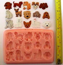 perros Diferentes Razas Molde de silicona para tarta DECORACIÓN, ARCILLA etc.