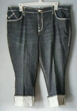 Women's size 24 ROCK & REPUBLIC CAPRI  embroidered crystals NWT