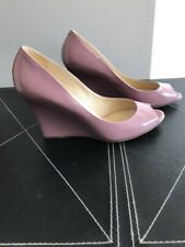 Jimmy Choo Pink Patent Leather Open Toe Wedges EU SZ 38.5 $598