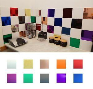 Tile Stickers Transfers Decal Chrome Mirror for 150mm x 150mm / 6 x 6 Inch Tiles