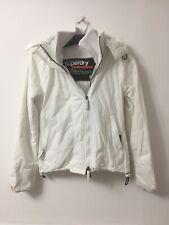 Superdry Windcheater Womens White Nylon Jacket S (D306)
