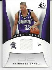2 Francisco Garcia 2006-07 Upper Deck SP Authentic NBA Game Used Card #184 W&B