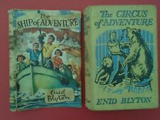 ENID BLYTON THE CIRCUS OF ADVENTURE 1ST 1952 + d/j for SHIP OF ADVENTURE