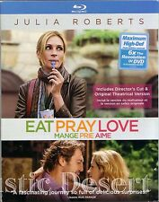 Eat Pray Love, Mange Prie Aime (Blu-ray 2010) Julia Roberts (used)