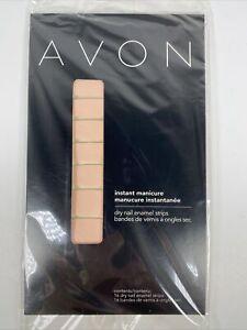 Avon Instant Manicure Dry Nail Enamel Strips Peony NIP NOS Pink