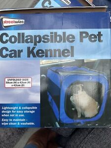 Streetwize Fold Collapsible Dog Puppy Cat Kitten Pet Car Travel Kennel Cage