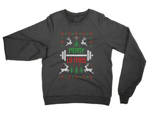 Merry Liftmas SWEATSHIRT funny xmas jumper gym weights weight lift present gift