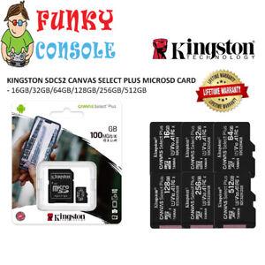 KINGSTON Micro SD Memory Card Class 10 16GB 32GB 64GB 128GB 256GB Memory Card