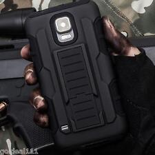 Samsung Galaxy S5 Hybrid Tank Armor Holster Case Cover w/Kick Stand Black Combo*