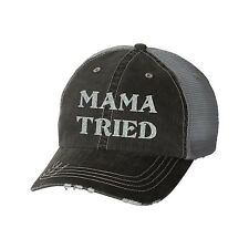 Mama Tried Glitter Ladies Trucker Hat - Country Lyrics Merle South
