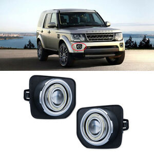 For Land Rover discovery 4 2014-2016 COB Angel Eyes Projector Lens Fog Light Kit