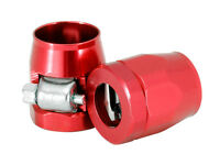 """Clamps Fuel or Vacuum Line Fittings Red 2 each For 3/8"""" I.D. HOSE 2262 Worm Gear"""