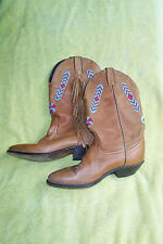 """VINTAGE SZ. 8.5 CODE WEST FRINGE & BEADED COWGIRL BOOTS(SEE PICS """"AS IS"""")LEATHER"""