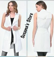 NWT bebe TIE WRAP TRENCH COAT SIZE M OMG Instant-chic sleeveless trench coat!!!!