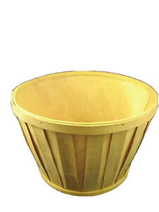 "Wooden Yellow Fruit Flower 10"" Plant  Basket"