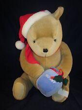"Disney Classic Pooh Gund plush 19"" Santa Hat Scarf ~ NEW with TAG"