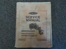 Mercury Mercruiser Stern Drive Units & Marine Engines Volume I Service Manual