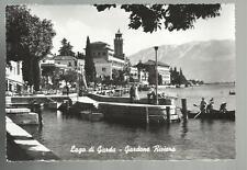 LAGO DI GARDA GARDONE RIVIERA VECCHIA CARTOLINA CON PERSONE SPEDITA NEL 1959
