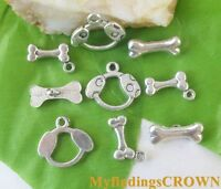 12Sets Tibetan Silver,Gold,Bronze Tiny Round Connector Toggle Clasps M1340