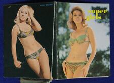 CALENDARIETTO DA BARBIERE  SUPER GIRLS 1969 #SA219