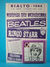 THE BEATLES * RINGO STARR * SLIDE SLIDING PUZZLE SKILL GAME CARDED ARGENTINA