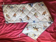 Vintage Walt Disney CTI Minnie Mickey Pluto Donald Daisy Tour De Lit bébé C T I