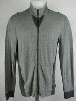 Armani Exchange Men's Full Zip Lightweight Jacket Gray Black M